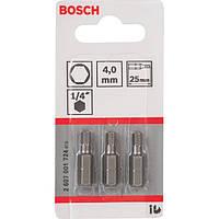 Биты Bosch 3 шт. HEX 4х25 XH 2607001724