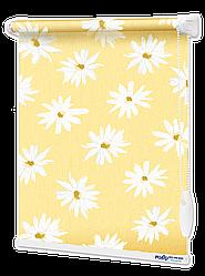 Ролети тканинні Ромашки Жовті