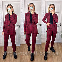 Женский брючный  стильный классический костюм пиджак и брюки новинка 2021