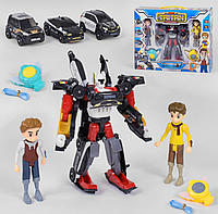 Трансформер Тобот робот Q1906 Тритан с героями 21,5 см, фигурки 2 шт 14 см, музыка-звук, свет Т
