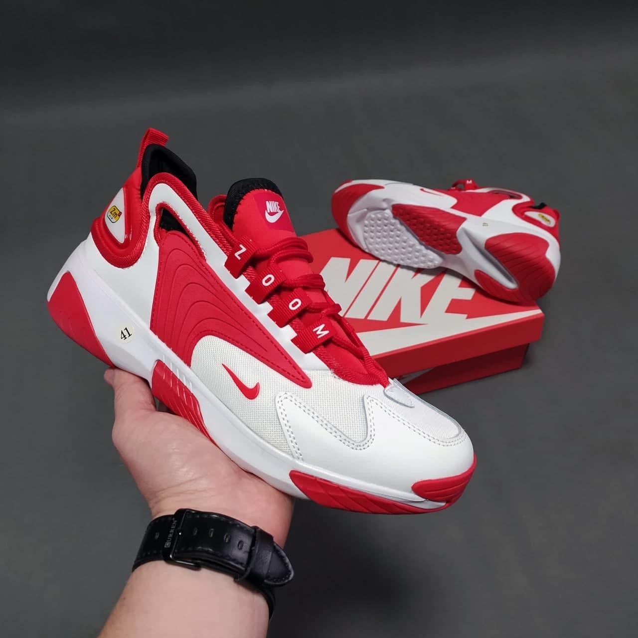 Кросівки в стилі Zoom 2K білі з червоним, В'єтнам 41-46