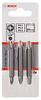 Биты двухсторонние Bosch 3 шт. 60мм PH - PH 2607001748