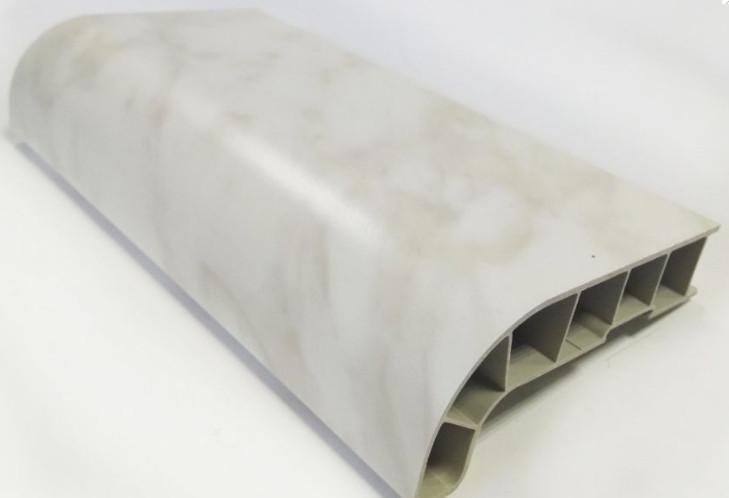 Подоконник SAUBERG (Сауберг) глубина 550 мм мрамор Матовый