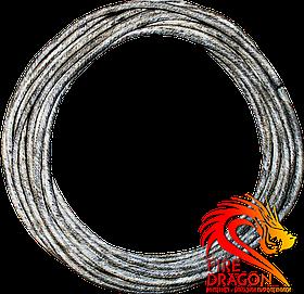 Огнепроводный шнур асфальтированый ОША, длина: от 1 м, диаметр: 5 мм, скорость горения: 1 см/сек.