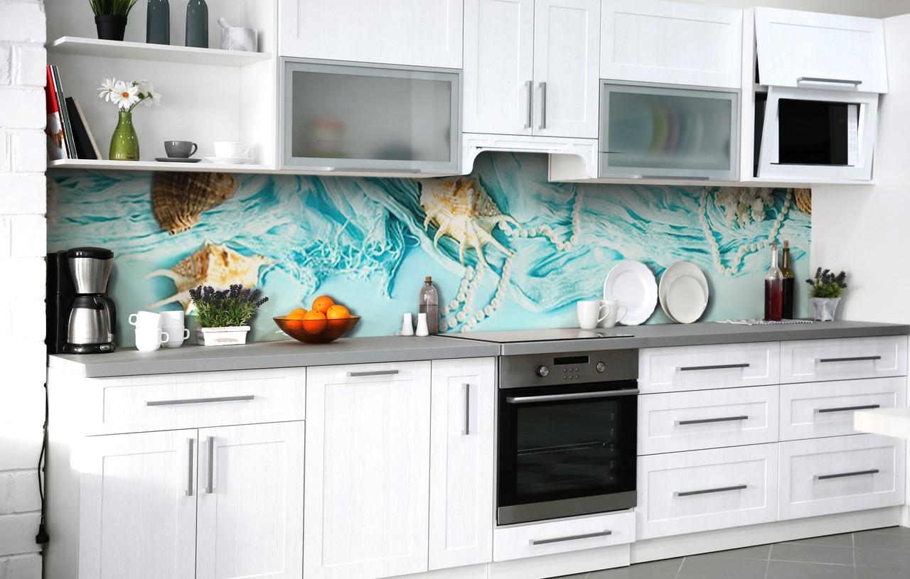 Самоклеющаяся Пленка для Фартука  Из вод океана наклейка на стену 60х250см Абстракция