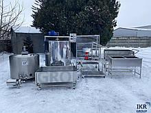 Линия для производства мягких, твердых сыров и творога 100 л, 200 л, 300 л, 500 л/ Лінія виробництва сиру