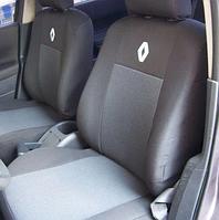 Чехлы DACIA Renault Logan MCV 7 (Дачия Логан) с 2004г. УНИВЕРСАЛ 7 мест! 3 ряда! все раздельные! Темно-серые