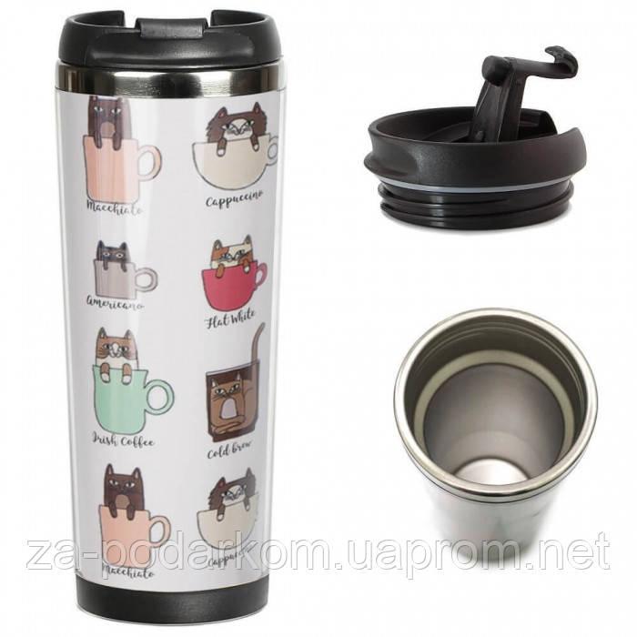 Термокружка Котячий кава