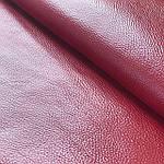 Натуральная галантерейная кожа ФЛЕШ, красная,  Pantone 19-1555