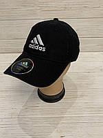 Кепка доросла чоловіча х/б Adidas розмір 57-59 см, чорного кольору
