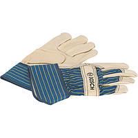 Перчатки защитные Bosch из бычьей кожи GL FL 10, 10 пар 2607990109, фото 1