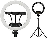 Кільцева LED лампа діаметром 36 см LS-360 з сенсорними кнопками і пультом 14399