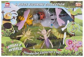 Набор игровых фигурок Dingua Милые букашки, 6 шт (в коробке)