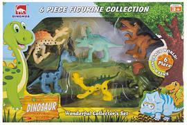 Набор игровых фигурок Dingua Милые динозаврики, 6 шт (в коробке)
