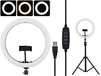 """Кільцева LED лампа діаметром SMN-12 """", 30 см, з пультом Black 14418"""