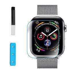 Защитное стекло Apple Watch 44mm Nano Optics 3D с ультрафиолетовой лампой