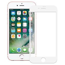 Захисне скло iPhone 7 plus 5D біле