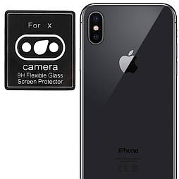 Защитное стекло на камеру iPhone XS
