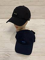 Кепка взрослая мужская х/б Polo размер 57-59 см, черного цвета