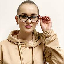 Имиджевые очки в черной матовой оправе