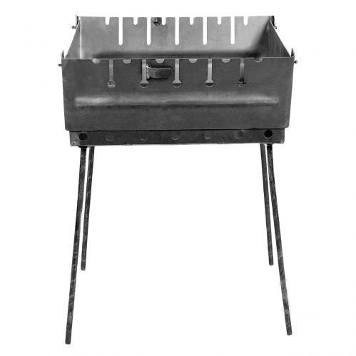 Мангал чемодан на 6 шампуров 2 уровня раскладной переносной
