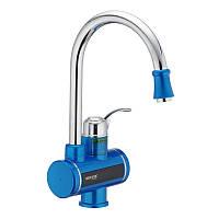 Проточный водонагреватель электрический кран MIXXUS Electra 240E LCDэкран для кухни и ванны нижние подключение