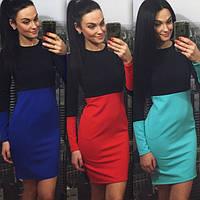 Комбинированное двухцветное платье