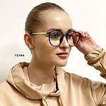 Іміджеві окуляри в чорній глянцевій оправі (антиблік), фото 2