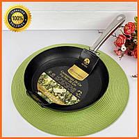 Сковорода чавунна 28см c антипригарним покриттям Edenberg EB-3334 Сковорода чавунна для індукційної плити