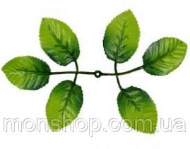 Лист искусственной розы (19 см)