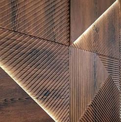"""Гипсовые 3D панели """"Lines Light Wood"""" - цвет в ассортименте."""