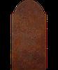 Надгробие из металла 50*103см*8мм. Мемориальная плита, памятник Классика 12