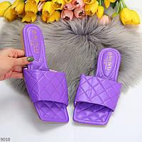 Актуальные дизайнерские фиолетовые женские шлепки шлепанцы геометрия в ассортименте 36-41 р-р