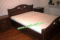 Ліжко Орхідея з масиву дуба., фото 1