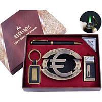 Подарочный набор с ручкой, с зажигалкой, с брелком, с пепельницей Moon Grass AL-725