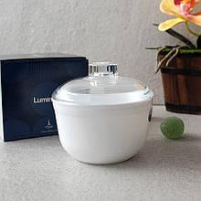 Сахарница белая с прозрачной крышкой 110 мм Luminarc Essence (P4333)