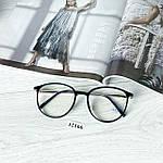 Іміджеві окуляри в чорній глянцевій оправі (антиблік), фото 5