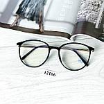 Іміджеві окуляри в чорній глянцевій оправі (антиблік), фото 3