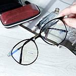 Іміджеві окуляри в чорній глянцевій оправі (антиблік), фото 4