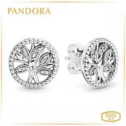 Пандора Серьги Древо жизни Pandora 297843CZ