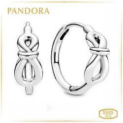 Пандора Серьги кольца Бесконечность Pandora 298889C00