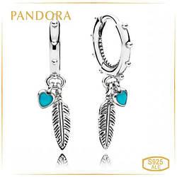 Пандора Серьги Магические перья Pandora 297205EN168