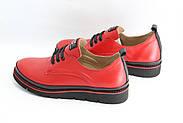 Красные женские кроссовки на шнурках Guero G177-65-KD-1-60-01, фото 2