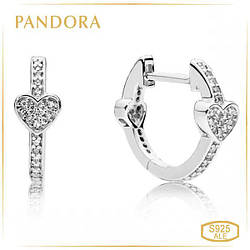 Пандора Серьги Обольстительные сердца Pandora 297290CZ
