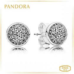 Пандора Серьги пусеты Ослепительные капельки Pandora 290726CZ