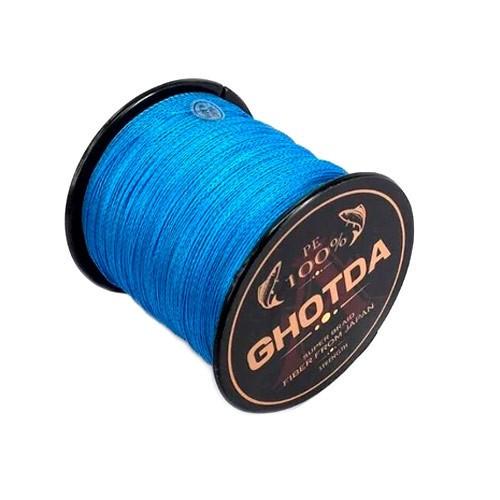 Шнур плетений рибальський 150м 4жилы 0.4 мм 27.2 кг GHOTDA, синій, 100318