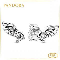Пандора Серьги Сверкающие крылья ангела Pandora 298501C01