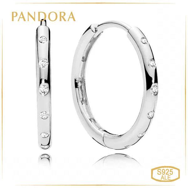 Пандора Серьги Сердца кольца Pandora 296244CZ