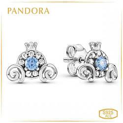 Пандора Серьги Тыква карета для Золушки Дисней Pandora 299193C01