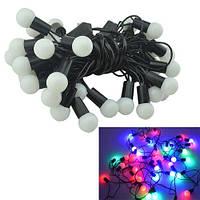 Гирлянда светодиодная новогодняя цветная Шарики 40 LED ламп 6м, 103088